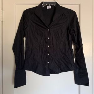Brooks Brothers Women's Black Button Down Shirt